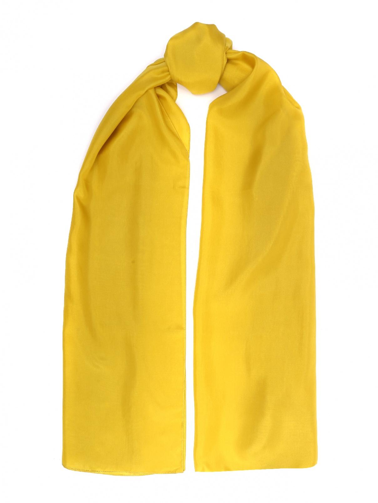 Шарф шелковый Max&Co  –  Общий вид  – Цвет:  Желтый