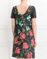Платье из хлопка с цветочным узором и боковыми карманами Isola Marras  –  Модель Верх-Низ1