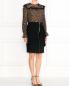 Блуза из шелка с цветочным узором и кружевной отделкой Philosophy Di Lorenzo Serafini  –  Модель Общий вид