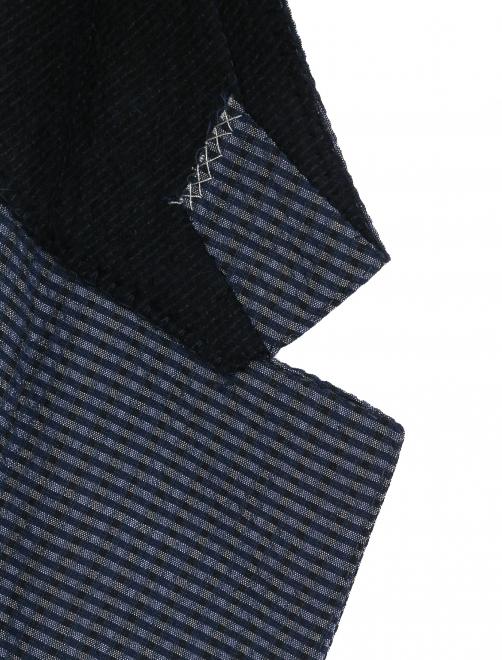 Пиджак однобортный из шерсти и шелка - Деталь1