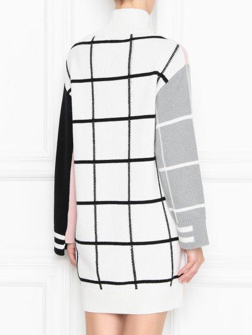 Платье трикотажное из шерсти и кашемира с рисунком - МодельВерхНиз1