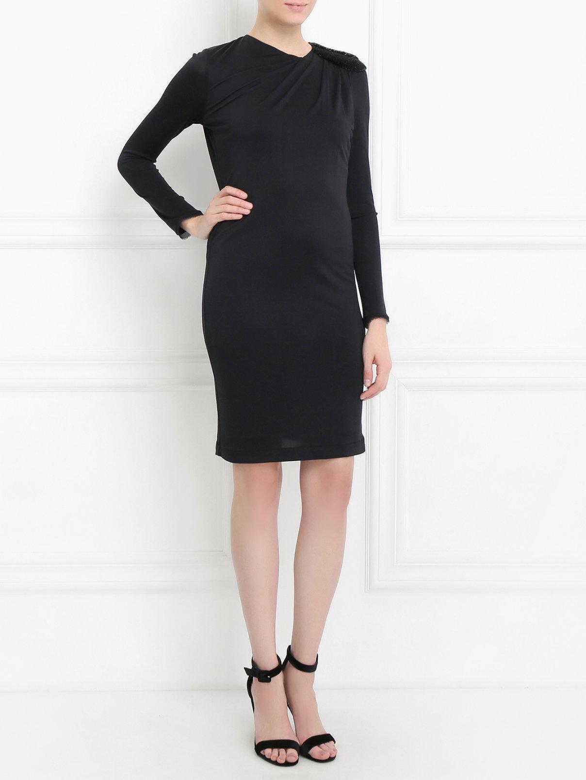 Платье из шелка с декоративной отделкой Jasmine Di Milo  –  Модель Общий вид