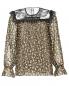 Блуза из шелка с цветочным узором и кружевной отделкой Philosophy Di Lorenzo Serafini  –  Общий вид