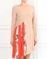 Платье ассиметричного кроя с контрастной вставкой MSGM  –  Модель Верх-Низ
