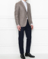 Пиджак из шелка и шерсти Borrelli  –  МодельОбщийВид