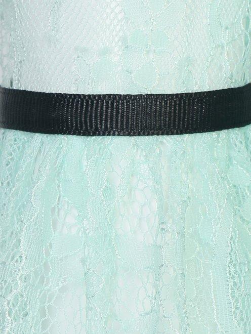 Платье-макси из кружева с контрастной отделкой - Деталь1