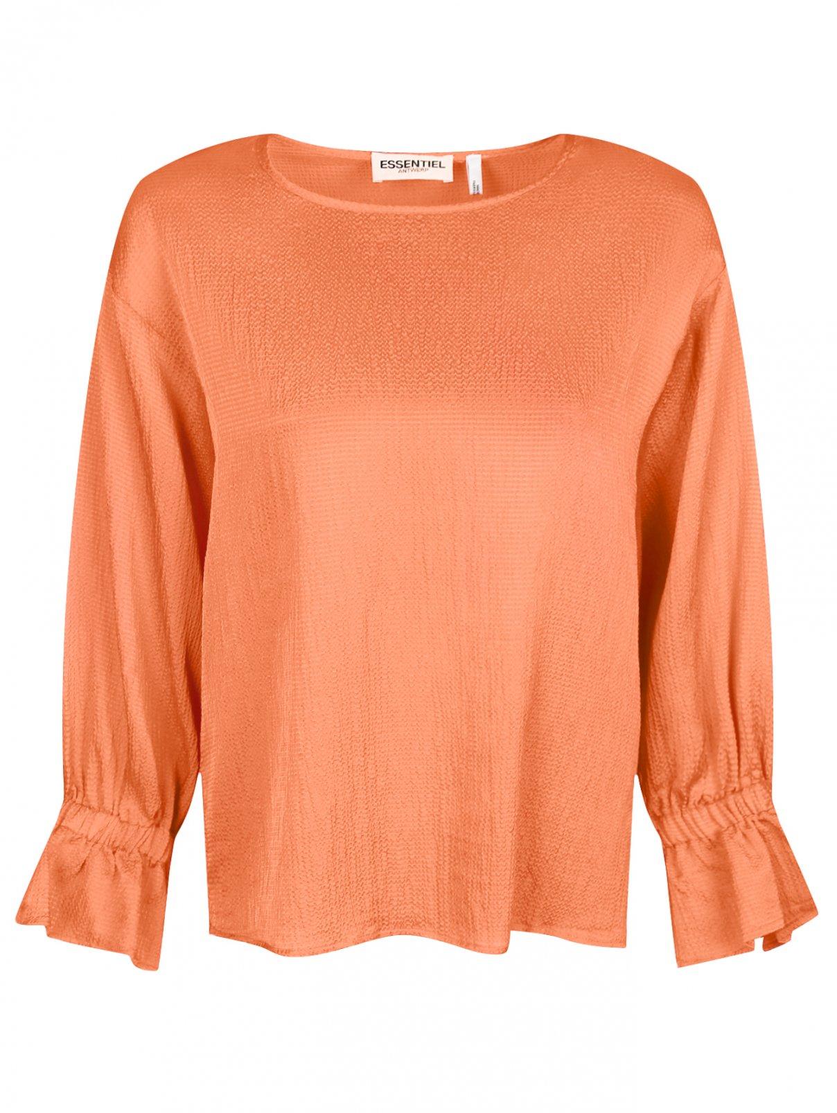 Блуза свободного кроя Essentiel Antwerp  –  Общий вид  – Цвет:  Оранжевый