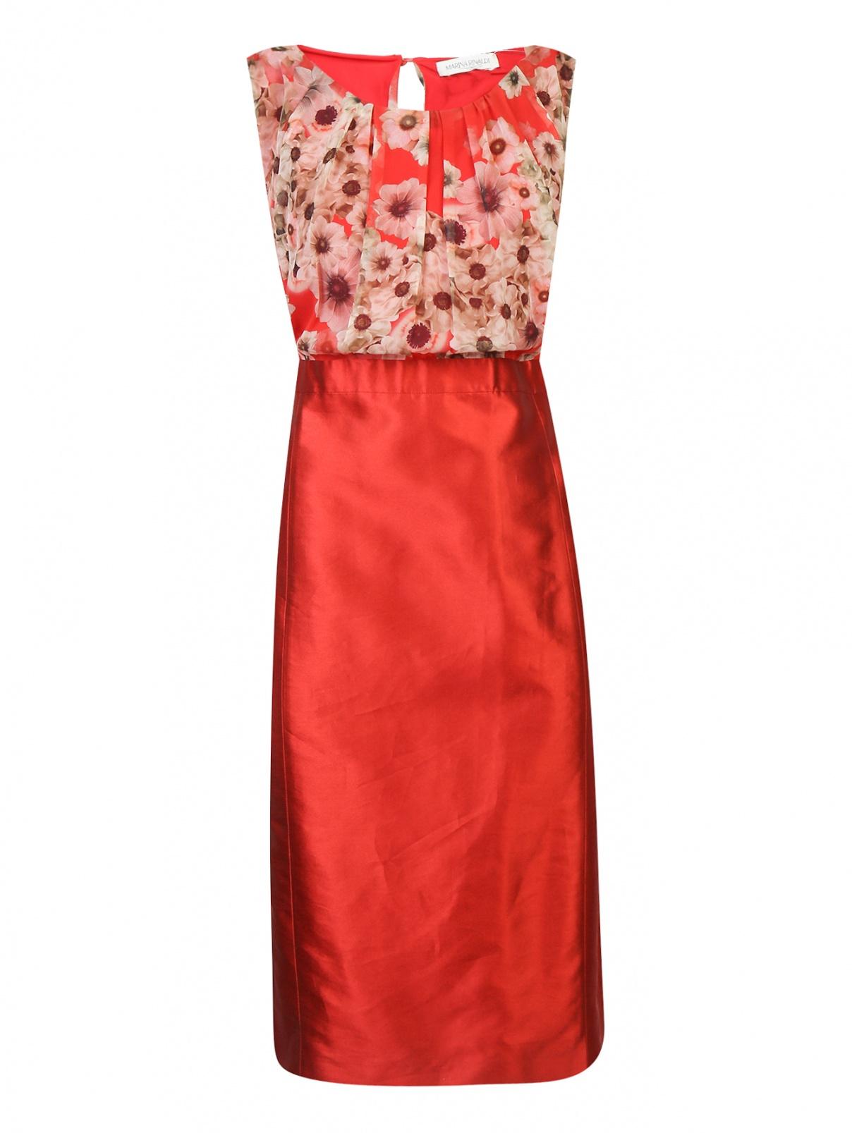 Платье из шелка с узором Marina Rinaldi  –  Общий вид