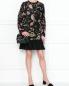 Платье-мини из смешанного хлопка с узором Red Valentino  –  МодельОбщийВид