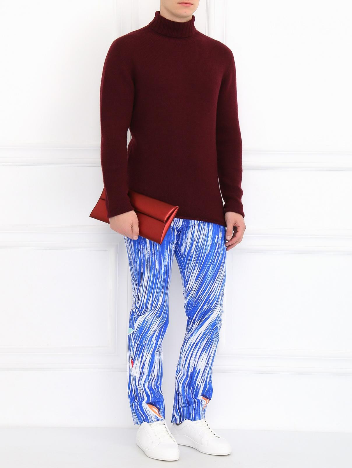 Сумка-клатч из кожи Jil Sander  –  Модель Общий вид  – Цвет:  Красный