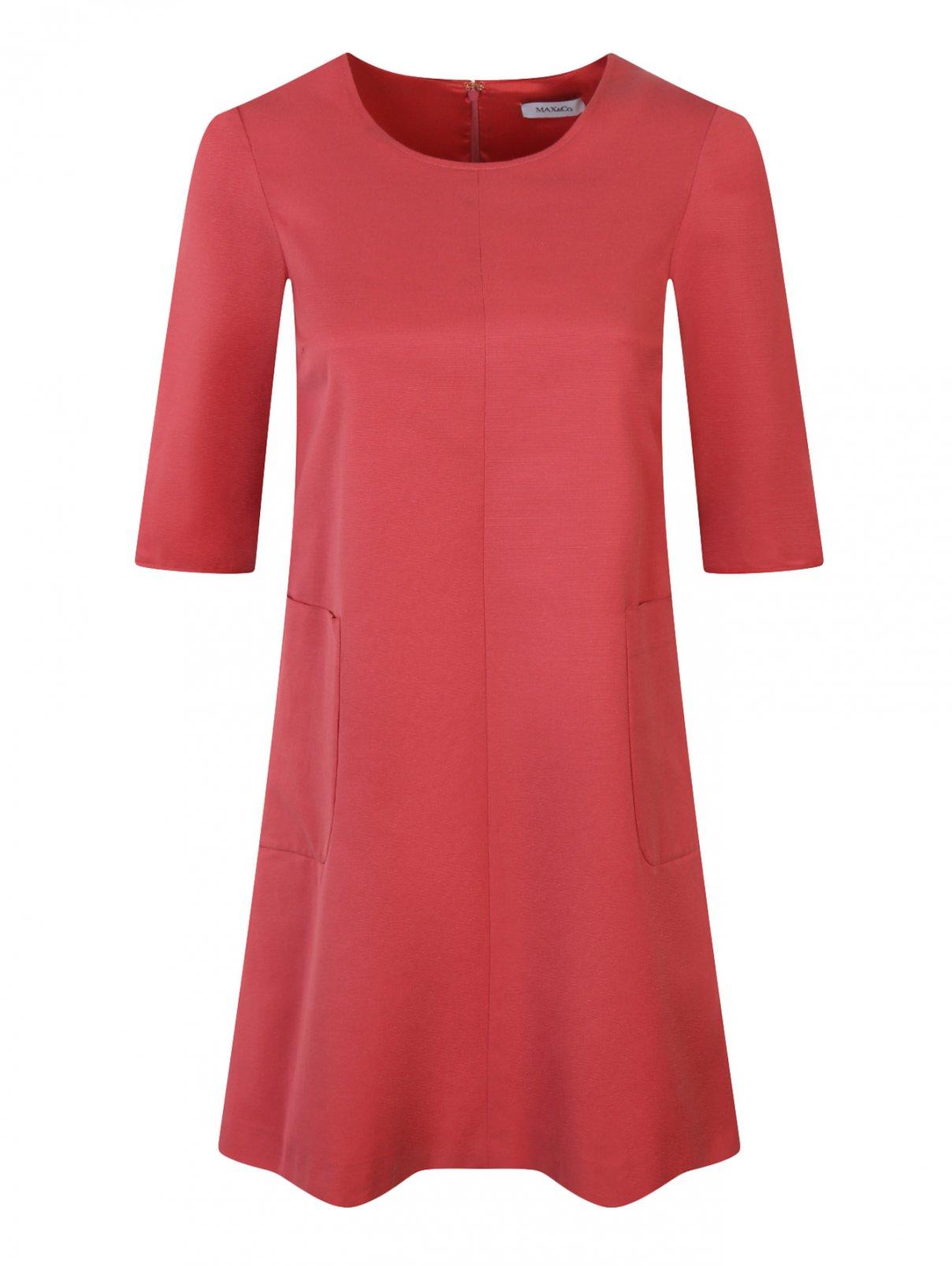 Платье из хлопка с накладными карманами Max&Co  –  Общий вид