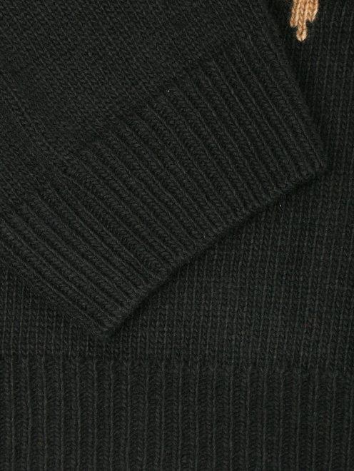 Джемпер из смешанной шерсти с узором - Деталь