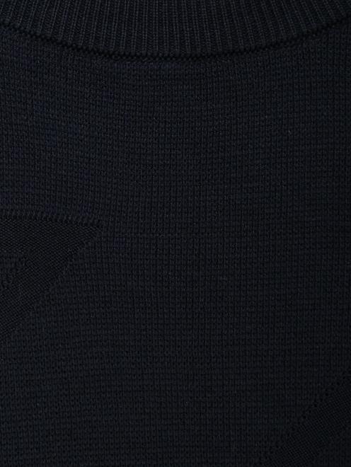 Джемпер из шелка с круглым вырезом - Деталь