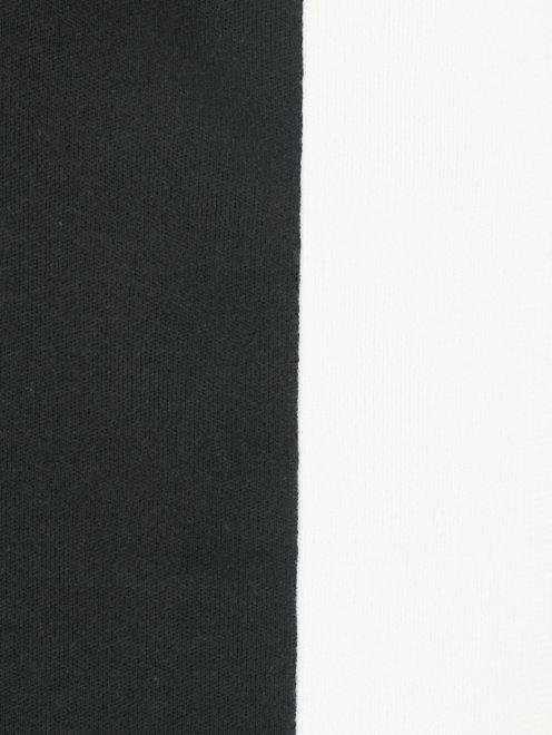 Платье из хлопка и шелка с контрастной отделкой - Деталь1