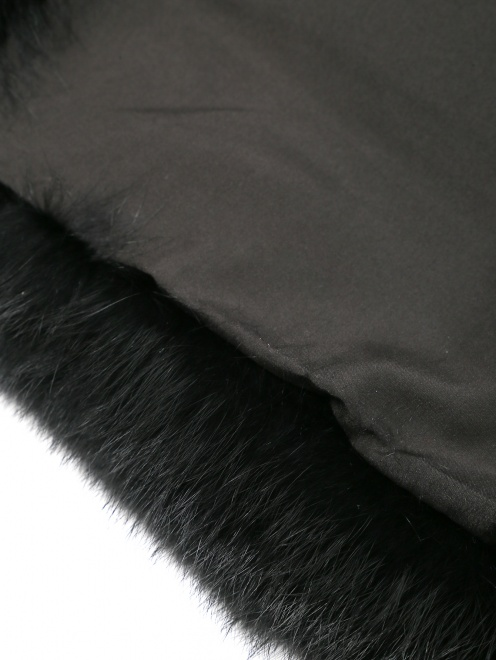 Шуба из меха кролика с укороченными рукавами - Деталь1