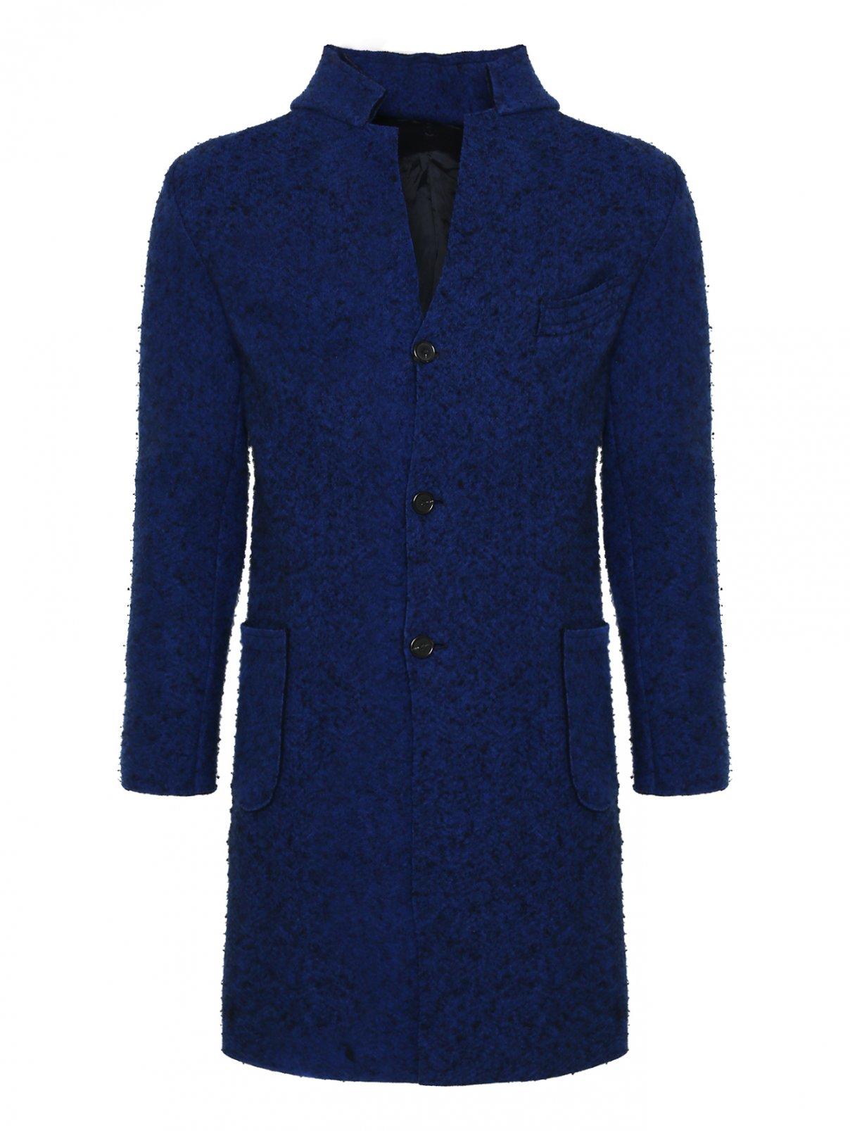 Полупальто из шерсти Ermanno Scervino  –  Общий вид  – Цвет:  Синий
